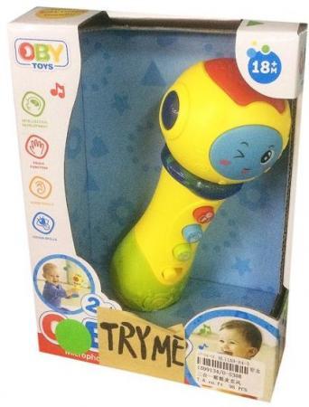Купить Микрофон с функц.воспроизв.звука, свет, звук, батар.не вх.в компл., кор., Наша Игрушка, Детский микрофон