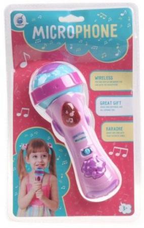 Купить Микрофон дет. свет, звук, батар.в компл.не вх., блистер, Наша Игрушка, Детский микрофон
