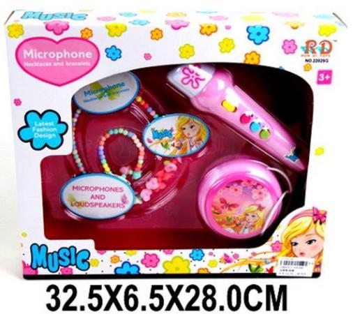 Микрофон Наша Игрушка Микрофон с бусами и браслетом 22029G