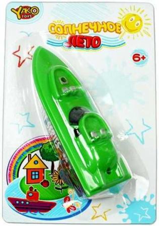Катер Наша Игрушка Катер с заводным механизмом зеленый M6514 подвеска музыкальная с заводным механизмом