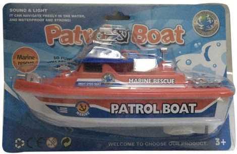 Крейсер Наша Игрушка Патрульный катер красный 0679B-1 катер наша игрушка солнечное лето красный m6524