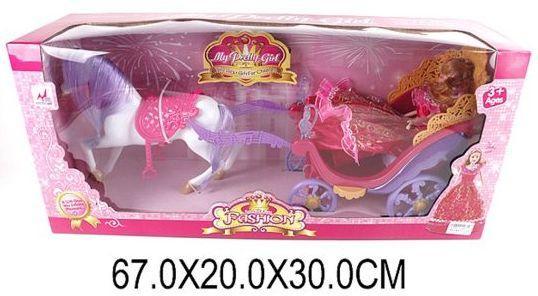 Карета с лошадью Наша Игрушка Карета Ажурная с лошадью и куклой 5009 игрушка