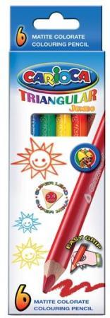 Набор карандашей цветных CARIOCA TRIANGULAR JUMBO, 6 цв universal набор карандашей цветных carioca triangular 12 цв трехгранные