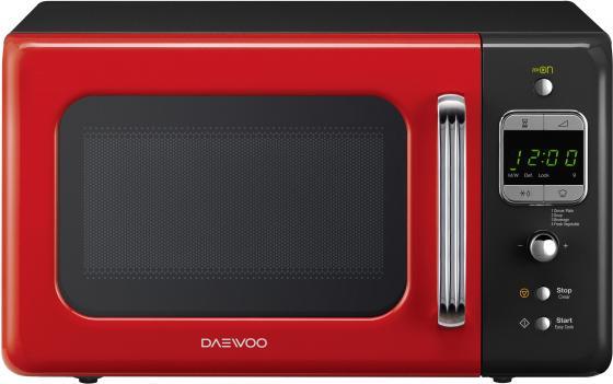 Микроволновая печь DAEWOO KOR-6LBRRB 800 Вт чёрный красный микроволновая печь daewoo kor 6627w 700 вт белый