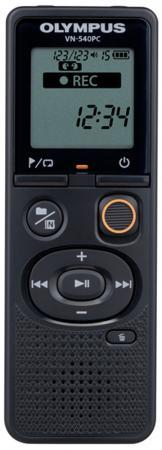 Цифровой диктофон Olympus VN-540PC 4Гб черный цифровой диктофон olympus vn 731pc 2гб серый