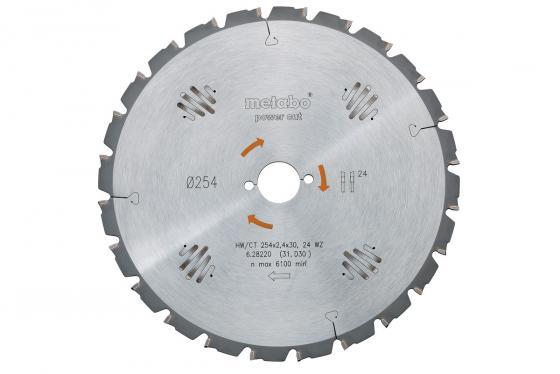 Купить Пильный диск Metabo254x2.4х30мм HM 24WZ 5neg 628220000
