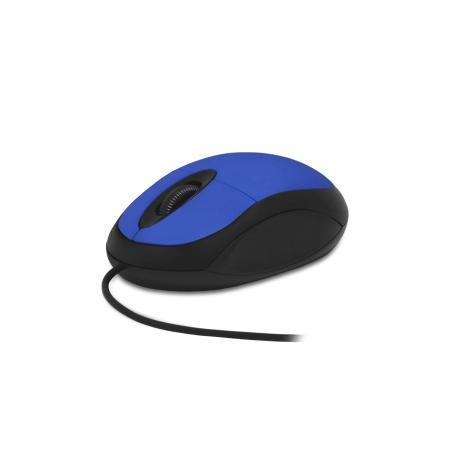 Мышь проводная CBR CM102 синий USB