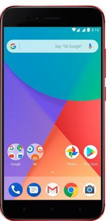 "Смартфон Xiaomi MI A1 красный 5.5"" 32 Гб LTE Wi-Fi GPS"