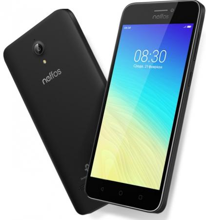 Смартфон Neffos Y5s серый 5 16 Гб LTE Wi-Fi GPS 3G TP804A24RU смартфон alcatel pixi 4 plus power 5023f белый 5 5 16 гб wi fi gps 3g 5023f 2balru2