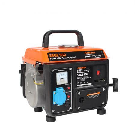 Генератор бензиновый PATRIOT Max Power SRGE 950 бензиновый генератор patriot srge 950 220 в 0 8квт [474103119]