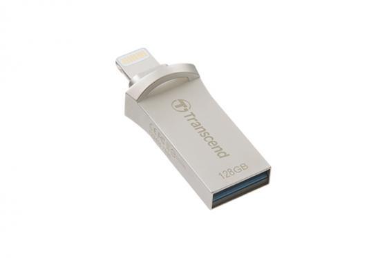 Флешка USB 128Gb Transcend JetDrive Go 500 TS128GJDG500S серебристый флешка usb 128gb transcend jetdrive go 300 ts128gjdg300k черный