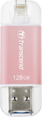 Флешка USB 128Gb Transcend JetDrive Go 300 TS128GJDG300R розовое золото