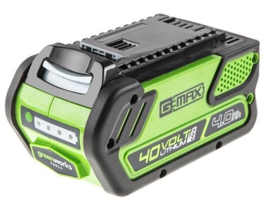 Батарея аккумуляторная Greenworks G40B4 аккумуляторная воздуходувка greenworks 40v g40bl 24107