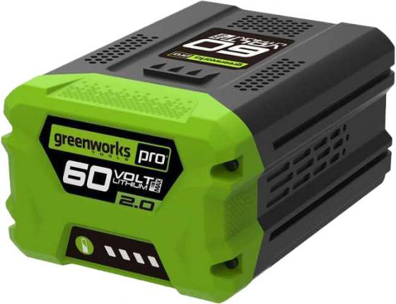 Литий-ионная аккумуляторная батарея 60V Greenworks G60B2 электропила аккумуляторная greenworks gd40cs40 0