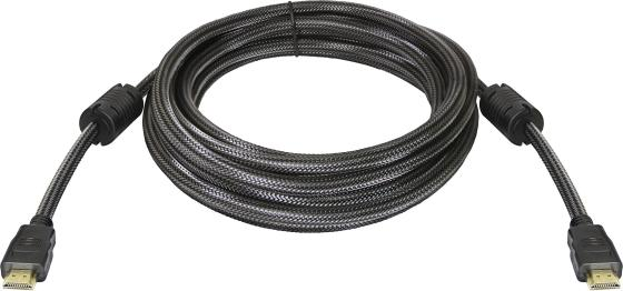Кабель HDMI 5м Defender 87460 круглый черный кабель hdmi 5м defender 87353 круглый черный