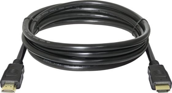 Кабель HDMI 5м Defender 87353 круглый черный кабель hdmi 5м defender 87353 круглый черный