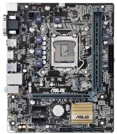 Материнская плата ASUS H110M-A/M.2/CSM Socket 1151 H110 2xDDR4 1xPCI-E 16x 2xPCI-E 1x 4 mATX Retail k55dr motherboard for asus k55de rev2 0 mainboard hd7470 1g fs1 socket 100% tested