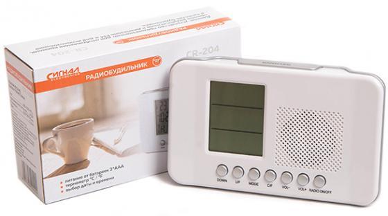 Радиоприемник Сигнал CR-204 белый радиоприемник сигнал cr 169 черный