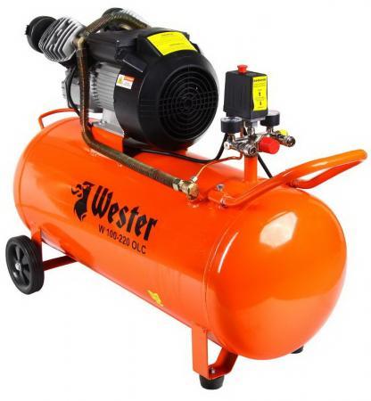 Компрессор Wester W 100--220 OLC 2.2кВт поршневой масляный компрессор wester le 024 150 olc