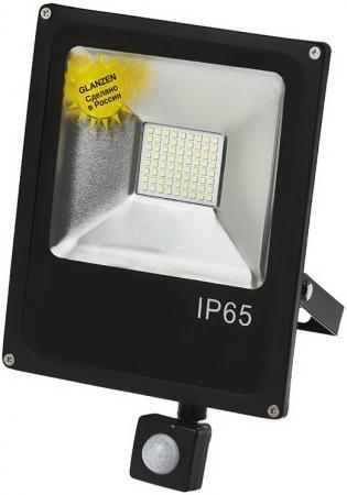 Прожектор GLANZEN FAD-0013-50 светодиодный c датчиком движения 50Вт 6000 к sip прожектор glanzen rpd 0001 50