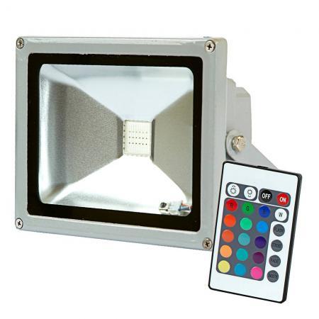 Прожектор светодиодный ЭКОРОСТ 518-010 10Вт 220В многоцветный 800Лм прожектор светодиодный тонкий 10вт белый