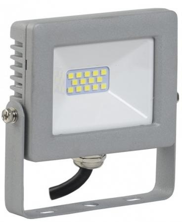 Прожектор светодиодный IEK СДО 07-10 10Вт 220В IP65 серый