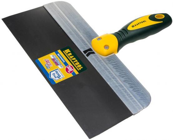 Шпатель KRAFTOOL 10036-300 фасадный с 2-хкомп.ручкой нержавеющее полотно 300мм шпатель фасадный kraftool 300мм с двухкомпонентной ручкой нержавеющее полотно 10036 300