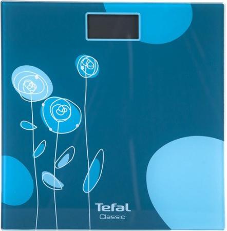 Весы напольные Tefal PP1148V0 синий голубой рисунок 2100101969 весы напольные tefal premiss flower white pp1070 серый рисунок