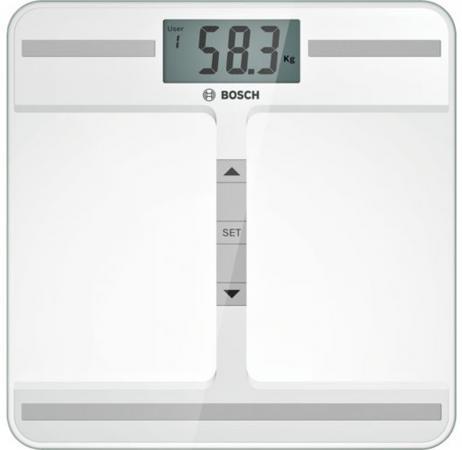 все цены на Весы напольные Bosch PPW421 белый онлайн