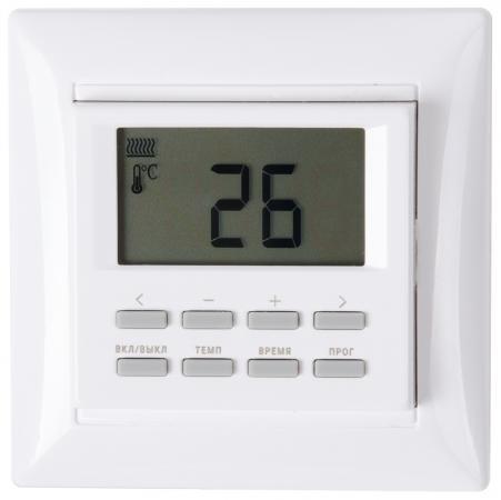 лучшая цена Терморегулятор SPYHEAT NLC-527H программируемый белый +5до+40С