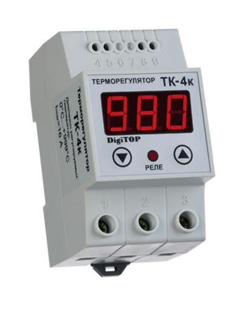 Терморегулятор DIGITOP ТК-4к термопара ТХА креплением на DIN-рейку реле напряжения digitop мр 63 креплением на din рейку