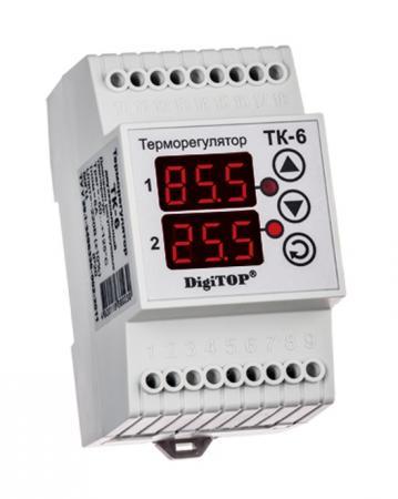 Терморегулятор DIGITOP ТК-6 креплением на DIN-рейку
