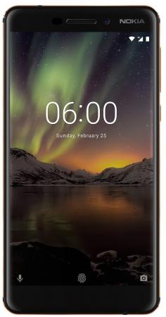 Смартфон NOKIA 6.1 DS (2018) черный 5.5 32 Гб NFC LTE Wi-Fi GPS 3G TA-1043 смартфон nokia 3 синий nokia 3 ds ta 1032 blue смартфон