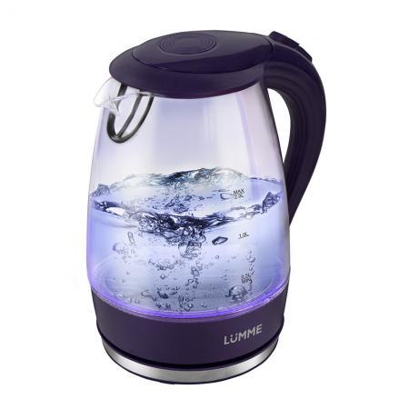 все цены на Чайник Lumme LU-216 2200 Вт темный топаз 2 л пластик/стекло онлайн