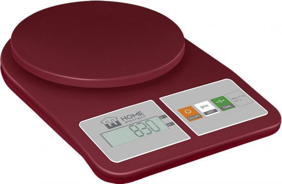 Весы кухонные HOME ELEMENT HE-SC930 красный гранат dia 400mm 900w 120v 3m ntc 100k round tank silicone heater huge 3d printer build plate heated bed electric heating plate element