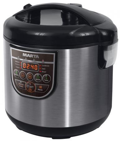 Мультиварка Marta MT-4324 CERAMIC 500 Вт 3 л черный жемчуг мультиварка marta mt 4314 860 вт 5 л темный агат