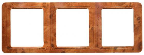 Рамка СВЕТОЗАР SV-54149-N гамма накладная вертикальная орех 3 гнезда mikado carp fine line p14 method paste stiff rig 6 15 lbs 13 см уп 2 шт