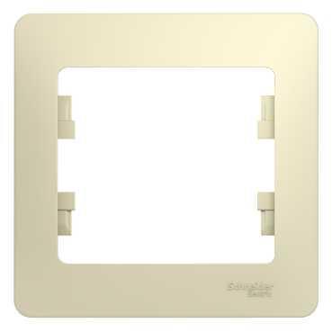 Рамка SCHNEIDER ELECTRIC GSL000201 Glossa 1-м беж.