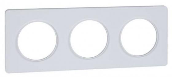 Рамка SCHNEIDER ELECTRIC 270104 Odace 3-м бел. S52P806