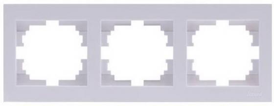 Рамка LEZARD 703-0202-148 серия Рейн 3-ая горизонтальная белый с белой вставкой звуковая карта pci e asus xonar dgx 5 1 ret