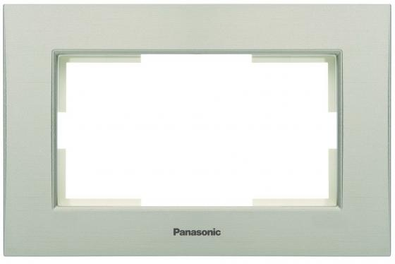 Рамка PANASONIC WKTF0805-2SL-RES Karre Plus для 2-й розетки бронза рамка panasonic wktf0804 2sl res karre plus 6м горизонтальная белая