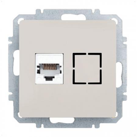 Розетка ZAKRU CLASICO ZA215405 (Сл.Кость) Компьютерная 8P8C