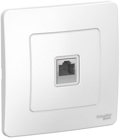 Розетка SCHNEIDER ELECTRIC BLNIS045001 Blanca компьютерная сп rj45 кат.5e бел. розетка компьютерная о у schneider electric blanca белый