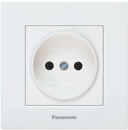 Механизм розетки PANASONIC WKTT0201-2WH-RES Karre Plus б/з белая
