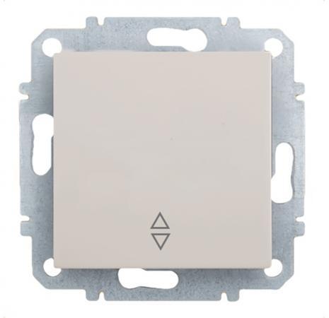 цена Выключатель ZAKRU BIEN ZA215414 (Бежевый) одноклавишный (проходной) онлайн в 2017 году