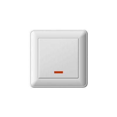 Выключатель WESSEN 59 VS116-153-18 Белый 1-клавишный с подсветкой 16А сх.1 в сборе с рамкой