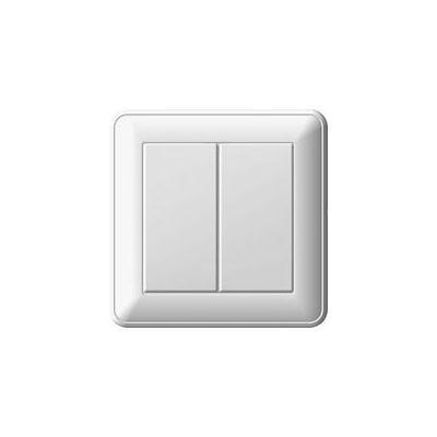 Выключатель WESSEN VS516-252-18 59 Белый 2-клавишный 16А сх.5 в сборе с рамкой