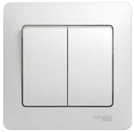 Выключатель SCHNEIDER ELECTRIC 275159 Glossa 2-кл. сп бел. gsl000152