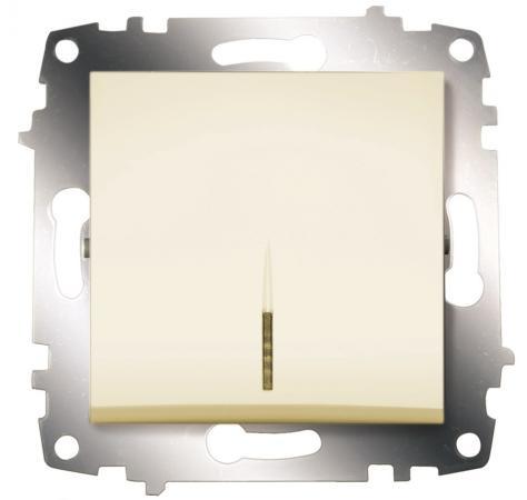 Выключатель ABB COSMO 619-010300-201 кремовый 1 кл с подсв.