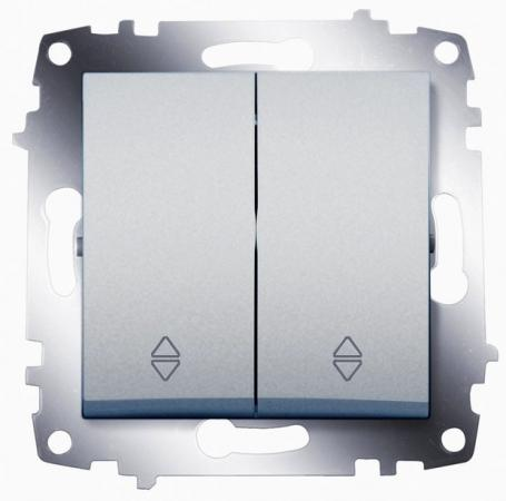 Переключатель ABB COSMO 619-011000-211 алюминий 2 кл. сх. 6